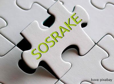 Palapelistä nousee irti pala, jossa lukee SOSRAKE.